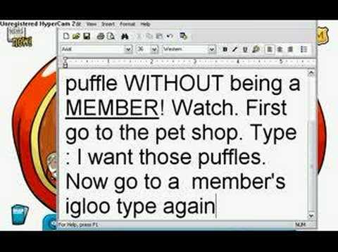 how to have an colored puffle without being a member