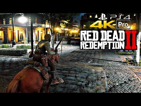 Red Dead Redemption 2 - Gameplay 4K PS4 PRO (2160p Ultra HD)