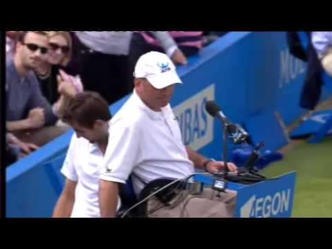 David Nalbandian kicks Linesman in Queens Final – What a Shame!