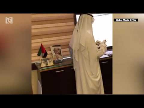 Dubai Ruler Sheikh Mohammed makes a surprise spot visit