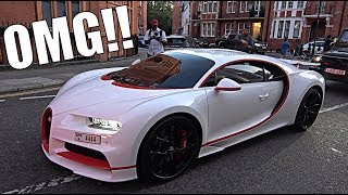 CRAZY ARAB BUGATTI CHIRON SPORT SHUTS DOWN LONDON!! by Supercars of London