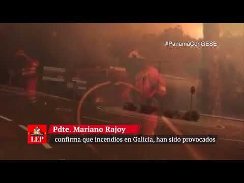 Confirman que incendios en Galicia fueron provocados