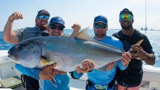 Video Amberjack Fishing Challenge - World Record Powerlifters vs NFL Linebacker - 4K MP3, 3GP, MP4, WEBM, AVI, FLV Agustus 2018