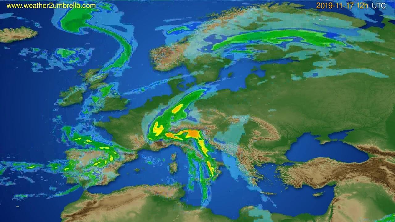 Radar forecast Europe // modelrun: 00h UTC 2019-11-17