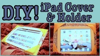 DIY: iPad Cover/Holder! - YouTube