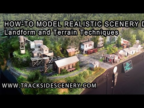 Joey Ricard: How-To Make Realistic Model Railroad Scenery - Landforms and Terrain Techniques