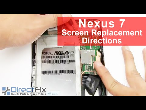 directfix - http://www.directfix.com/category/ANDROID.html presents the Nexus 7 Teardown & Repair Directions. These directions for the Google Nexus 7 Tablet and will hel...