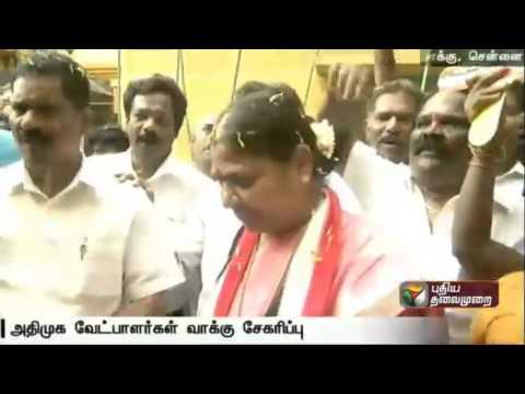 ADMK-candidates-in-door-to-door-campaigning-in-Chennai