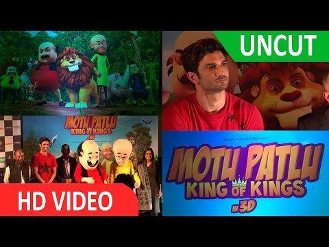   Sushant Singh Rajput   Trailer Launch  of   3D Animated   Movie   Motu Patlu  