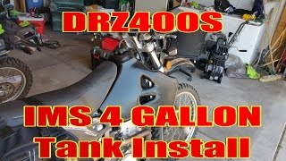 8. DRZ400S IMS 4 Gallon Tank Install