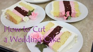 How to Cut a Wedding Cake by Gretchen's Bakery