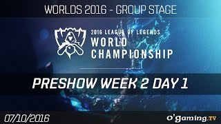 Preshow - World Championship 2016 - Group Stage Week 2 Day 1
