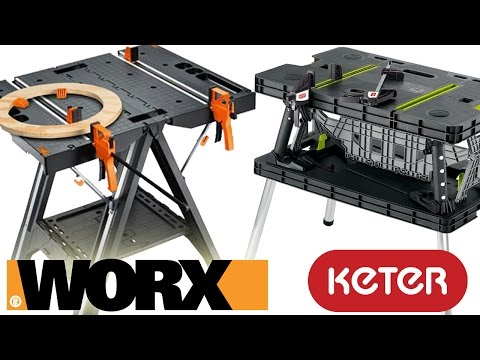 Worx Pegasus Folding Work Table VS Keter - Review And Demo