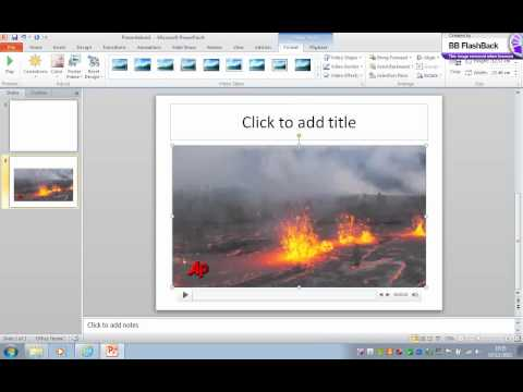 Insert a video into powerpoint - Easy (Try this first).wmv (видео)