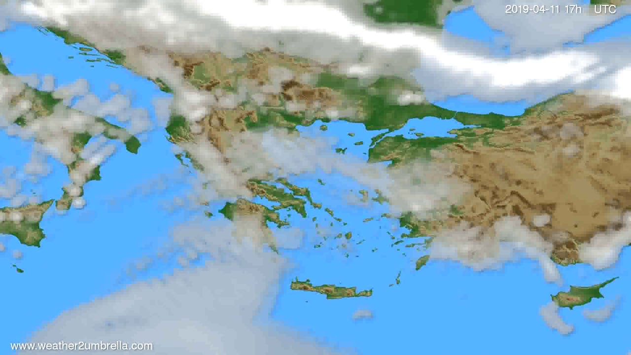Cloud forecast Greece // modelrun: 00h UTC 2019-04-10