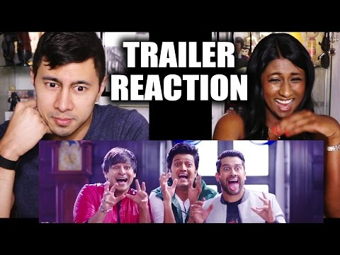 GREAT GRAND MASTI Trailer Reaction by Jaby &  Angela!