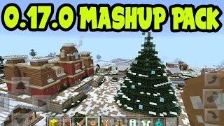 "MCPE 1.0 "" FESTIVE MASH UP PACK "" GAMEPLAY! CHRISTMAS Mash Up Pack - Minecraft Pocket Edition"