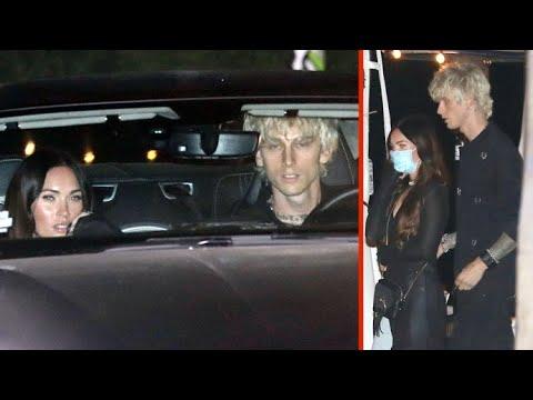 Machine Gun Kelly And Megan Fox Leave Mastro's In An Aston Martin