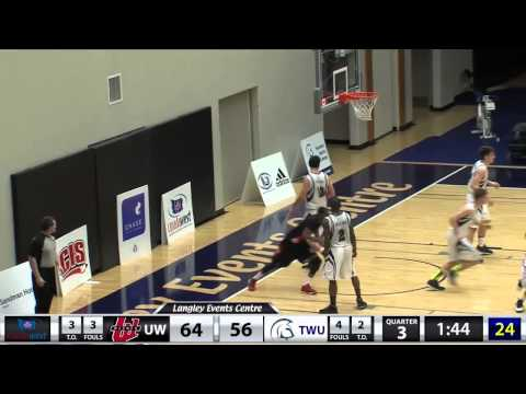 2015-02-06 TWU Men's Basketball Highlights vs Winnipeg