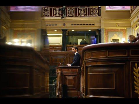 Intervención de Pablo Casado en el Pleno del Congreso donde se debate la quinta prórroga del estado de alarma