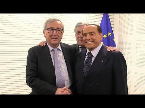 Berlusconi (81) auf Wahlkampftour in Brüssel