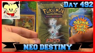 Pokemon Pack Daily NEO DESTINY Booster Opening Day 492 - Featuring Pichu Purchase by ThePokeCapital