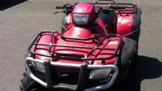 7. 2007 Honda TRX500 four wheel drive manual shift for sale