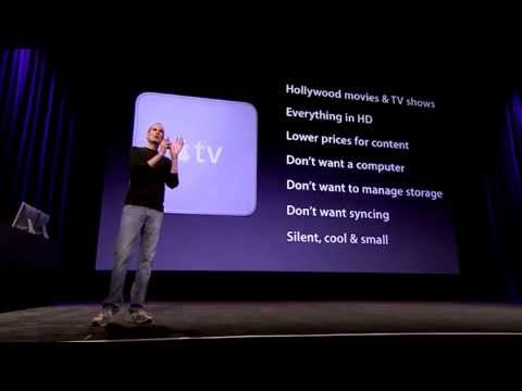 Apple TV - How do you get an Apple TV... Steve Jobs introducing the newly designed, smaller Apple TV. Click This Link Below If You Want To Know More About How To Start ...