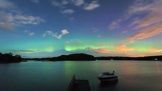 Timelapse of Aurora Borealis @ Naantali, Finland