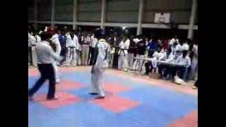 real street fight at 26th tamilnadu state taekwondo tournament 2013 at dindigul district