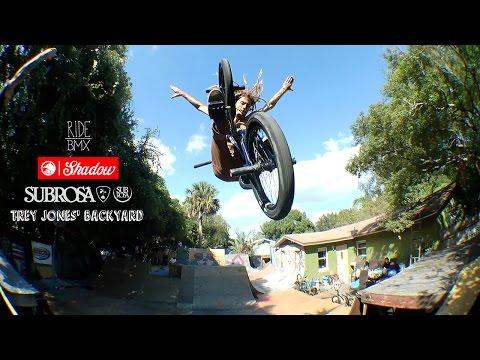 Backyard BMX Session at Trey Jones' w/ Shadow & Subrosa (видео)