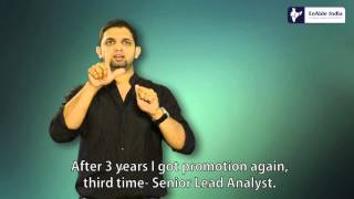 Deaf person with career growth in big IT company