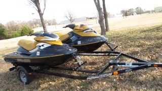 9. Two 2006 Seadoos, RXP and RXT, 70 hours, trailer included