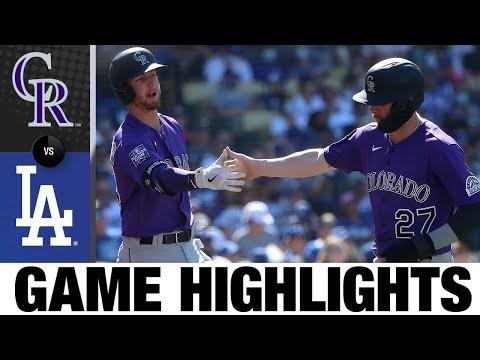 Rockies vs. Dodgers Game Highlights (8/29/21)   MLB Highlights