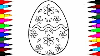 Video How to Draw GIANT Easter Surprise Egg l Learning Coloring Pages for Kids MP3, 3GP, MP4, WEBM, AVI, FLV Oktober 2017
