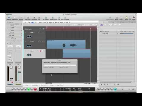 How To: Logic Pro 9 – Beginners Guide To Recording Live Audio/Sound
