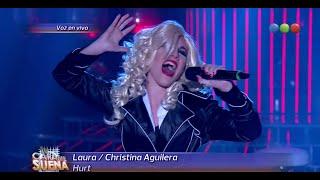 Laura Esquivel como Christina Aguilera - Tu Cara Me Suena 2015