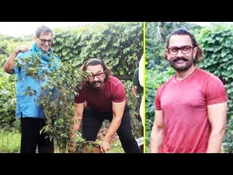Aamir Khan Plants A Tree At Subhash Ghai's Whistli