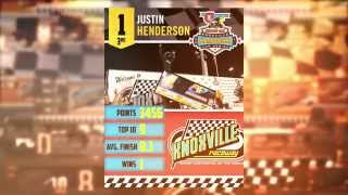 Knoxville Raceway 410 3rd place points finisher Justin Henderson