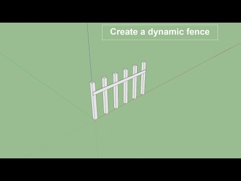 How to create dynamic fence in sketchup pro