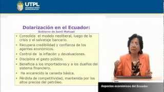 UTPL ASPECTOS ECONÓMICOS DEL ECUADOR [(REALIDAD NACIONAL)(TODAS LAS CARRERAS)]