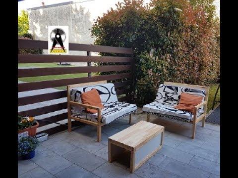 Costruzione tavolino da giardino DIY