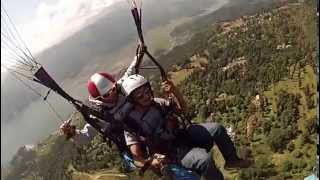 Paragliding Experience Take Off- Hem Shrestha with pilot Prakash