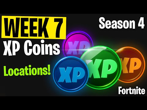 WEEK 7 - ALL XP Coins Location! - Season 4 | Fortnite Chapter 2