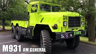 Jim Zdunic turned a lot of heads when he rolled into the Knob Creek machine gun shoot in April 2017 with his beautiful custom neon green M931 AM General truck. I was lucky to get a little tour and hear the story behind how be and his wife came to own it.In the summer of 2015, Jim and his wife Michelle drove from their home in Cincinnati, Ohio to Jacksonville, Florida for a vacation with some friends. Near Jacksonville, Michelle spotted the M931 AM General truck for sale on the side of the road. They stopped and checked it out. Michelle really liked it. Neither of them knew anything about vehicles such as this so they were hesitant to buy it. They were also a long way from home.They continued to their resort where Jim went online and found an internet forum called Steel Soldiers. It's focus was on military hardware such as the truck they'd seen. Many of the members owned de-militarized vehicles  and members were able to post questions and other member responded. It was essentially an on-line community of people who were extremely passionate about old military vehicles. Jim and Michelle realized that this site could serve as a vital source of information about the truck they'd seen. Still, Jim was hesitant. Michelle told him  she wasn't returning home without the truck!So, they made a few phone calls and the next thing you know, they're driving their 'new' M931 truck back to Cincinnati. It took two days at 55 miles per hour and cost approximately $300 worth of diesel fuel.They've been enjoying the truck ever since. Michelle loves driving it. It has power steering, automatic transmission, is very dependable and always starts a conversation. They particularly like the neon green paint job.They made a Facebook page for their truck that they nicknamed V-Rex and they often attend veteran events to give rides and show support.