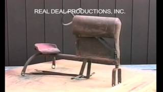 """Information on the Early BMC Pedal Tractor.  From our video on pedal tractors. It includes a visual descriptive study of each pedal tractor. Check out our facebook page """"Pedal Tractors"""" or our website www.arealdealproductions.com. We carry  a full line of pedal parts and pedal tractors."""