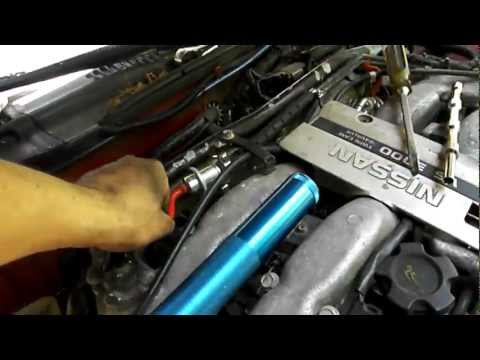 How to change EGR ASSY control valve VACUUM HOSE on a Nissan 300zx (z32) or INFINITI j30 14710-30p00