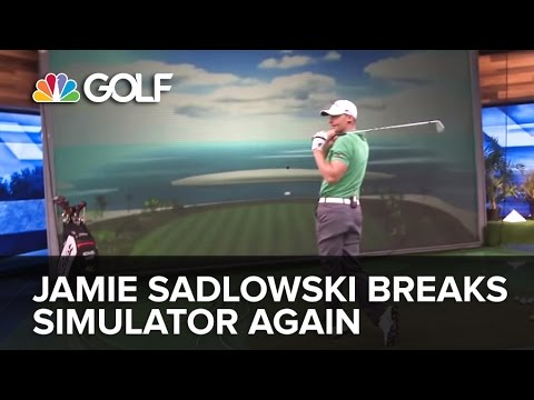 Jamie Sadlowski Breaks Golf Channel Simulator Again