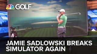Jamie Sadlowski Breaks Golf Channel Simulator Again | Golf Channel