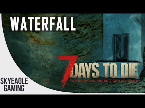 "7 Days To Die | Waterfall (Hidden Secret Base Entrance) Location Guide ""Navezgane"" - PC/PS4/XB1"